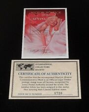 1995, GUYANA, MARILYN MONROE, LIMITED EDITION $300 SOUVENIR SHEET, W/COA