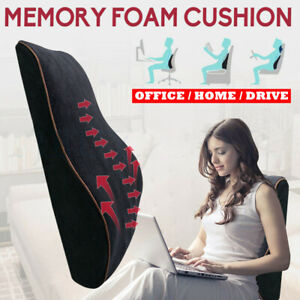 Memory Foam Lumbar Back Support Pillow Back Cushion Home Office Car Seat Pillows