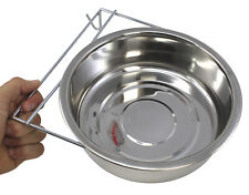 3440 Stainless Steel 96oz Hook Cup Bowl Cage Cup Dish Bird Dog Food Water
