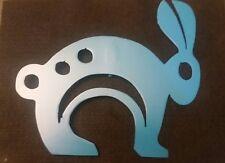 Bunny Spring Easter - Satin Lagoon animal garden yard lawn art w/ detach stake