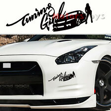 1PC Best Selling JDM Racing Tuning Girl Hellaflush Drift Vinyl Car Sticker Decal