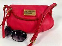 MARC BY MARC JACOBS Q Natasha MINI Red  Pebbled Leather Crossbody Bag
