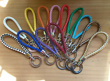 Keychain With 2 Keyring & Loop In Leather Look