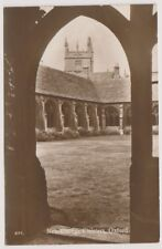 Oxfordshire postcard - New College Cloisters, Oxford - RP