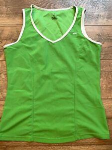 NIKE driFIT Stretch Green Gym Yoga Athletic Running Workout Tank Top wmns Medium