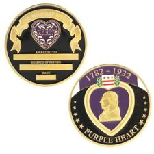 PURPLE HEART MEDAL  FOR MILITARY MERIT CHALLENGE COIN