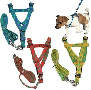Nylon  Adjustable Harness and Lead for Dog Puppy and  Small Dog