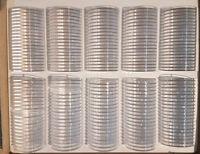 LINDNER Kapseln = Münzdosen =  Münzkapseln 32,5mm für 10 / 20 EURO - 100er Pack