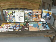 10 Bicycling Magazines  Dates are all different