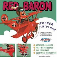 Atlantis Red Baron Fokker Triplane with Motor Snap Together model kit 5903