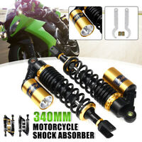 "Pair 13.5"" 340mm Motorcycle Rear Air Shock Absorber Suspension For Honda"