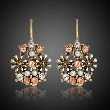 Colorful Crystal Stud Earrings Clip Earrings Jewelry Pearl Earrings