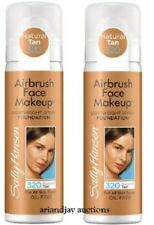 Lot of 2 New Sally Hansen Airbrush Face Makeup Foundation Natural Tan 320