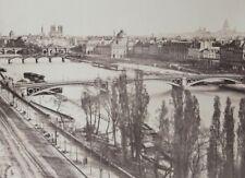 c1865 Attr. Charles Soulier PARIS vue de la SEINE depuis le Louvre albumen print
