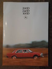 MERCEDES BENZ 200D 240D 300D orig 1980 UK Mkt Prestige Sales Brochure - W123