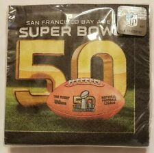 Super Bowl 50 Cocktail Napkins Beverage Serviette Collectible 2016 Souvenir