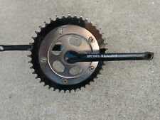 Oldschool BMX ODYSSEY EXCALIBUR One Piece Crank Chromoly and Chain Ring BLACK