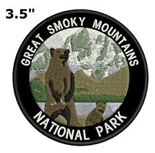 Smoky Mountains National Park Embroidered Patch Iron-On Souvenir Travel Explore