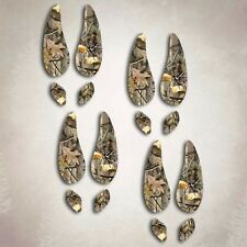 Deer Hunting Hoof Prints Sticker Archery Camouflage Window Decal Set 4 included