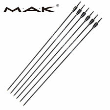 "6X 30"" Archery Mixed Carbon Arrows Spine1000 Dia 6mm F Recurve/Compound Bow"