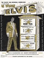 1961 ELVIS PRESLEY AT BLOCH ARENA, PEARL HARBOR HAWAII BENEFIT CONCERT POSTER