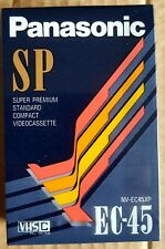 VHS-C Panasonic EC-45 SP SUPER PREMIUM Compact video cassette