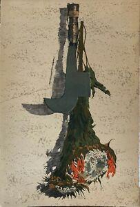 Piero Vignozzi litografia Pennato 1975 66x45 firmata numerata il Bisonte