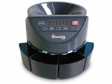 Cassida C100 Coin Counter 250 coins per minute 3 years warranty NEW