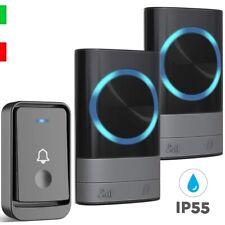 Campanello Senza Fili, Wireless Impermeabile da Esterno LED,300m 45 Melodie Casa