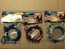 DOG TIE OUT CABLE EASY ATTACHED FOR CAMPING PICNIC SHOPING CABLE LEAD LEASH WIRE