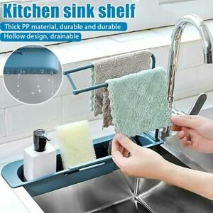 Telescopic Sink Rack Holder Expandable Storage Drain Basket Home Kitchen  2021