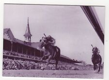 Secretariat wins 1973 Kentucky Derby METAL trading card - Horse Racing