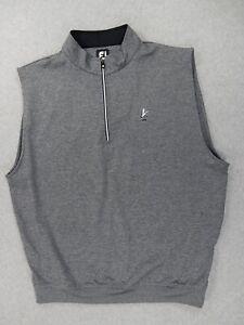 Footjoy Tech FRAMINGHAM CC Logo Jacket Vest (Mens XL) Gray