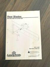 Land Pride Rbt1560 Rbt1572 Rbt1584 Rear Blade Operators Manual 301 144m