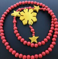 Philippines 49ers San Francisco Flag  3 Stars And Sun Red And gold Necklace