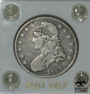 1834 United States Capped Bust 50c Half Dollar Coin Encased STRONG LIBERTY!