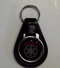 Reproduction Vintage Yamaha Snowmobile Medallion Style Leather Keychain