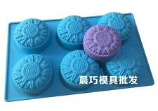 Sunflower Floral Soap Mold Cake Mold Silicone Mould For Candy Chocolate