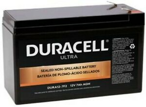 Authentic Duracell DURA12-7F2 12V 7AH SLA Battery F2 Terminal