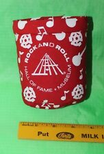 Rock and Roll Hall of Fame Museum Red Can Drink Clip Koozie - Ex. Condition