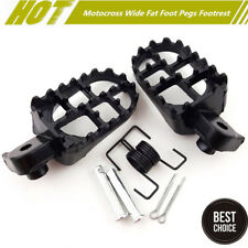 Motocycle Foot Pegs Footrest For For Yamaha PW50 PW80 TW200 Honda CR CRF XR 50