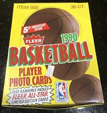 1990 Fleer Basketball Wax Box of Unsearched Unopened Factory Sealed Packs
