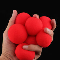 Soft-Sponge Red Balls Close-Up Magic Street Party Trick Magician Prop New x 10