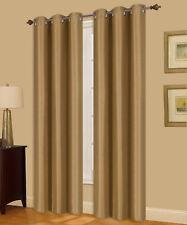 1PC GROMMET PANEL ABSOLUTE ROOM DARKENING 100% BLACKOUT WINDOW CURTAIN GOLD