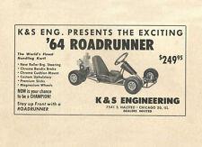 Vintage 1964 K&S Engineering Roadrunner Go-Kart Ad