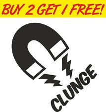 Clunge Magnet Funny Car Vinyl Sticker Graphic Decal jdm euro vw vag