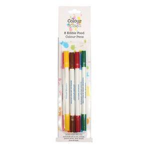 Culpitt Cake Sugarcraft Colour Splash Pen Black Double Tip ASSORTED 8 Pack 2ml