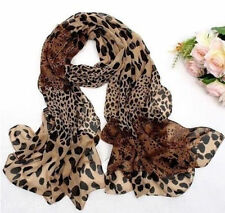 Fashion Women's Long Soft Wrap Lady Shawl Silk Leopard Chiffon Scarf Hot !