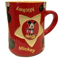 Mickey Mouse Mug Star 3D Red Yellow Walt Disney World