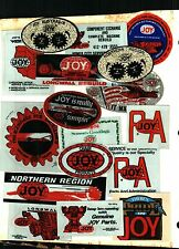 HUGE LOT OF 200 DIFFERENT JOY COAL MINING STICKERS